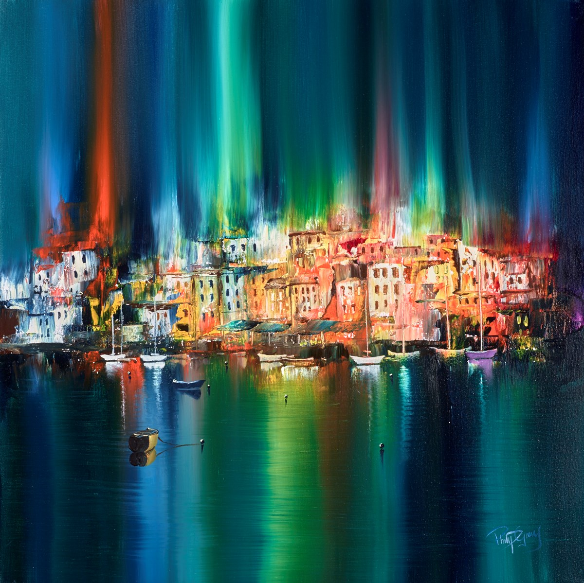 City Harbour I by philip gray -  sized 28x28 inches. Available from Whitewall Galleries